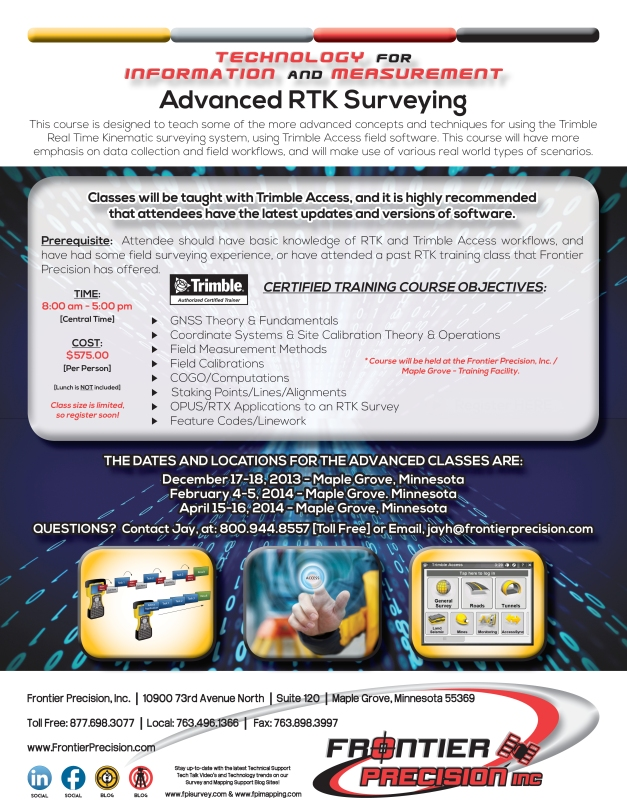 FPI Advanced RTK Surveying 2013-14
