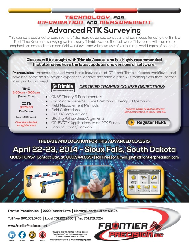 Sioux Falls - Jay FPI RTK Advanced Surveying Flyer 2014