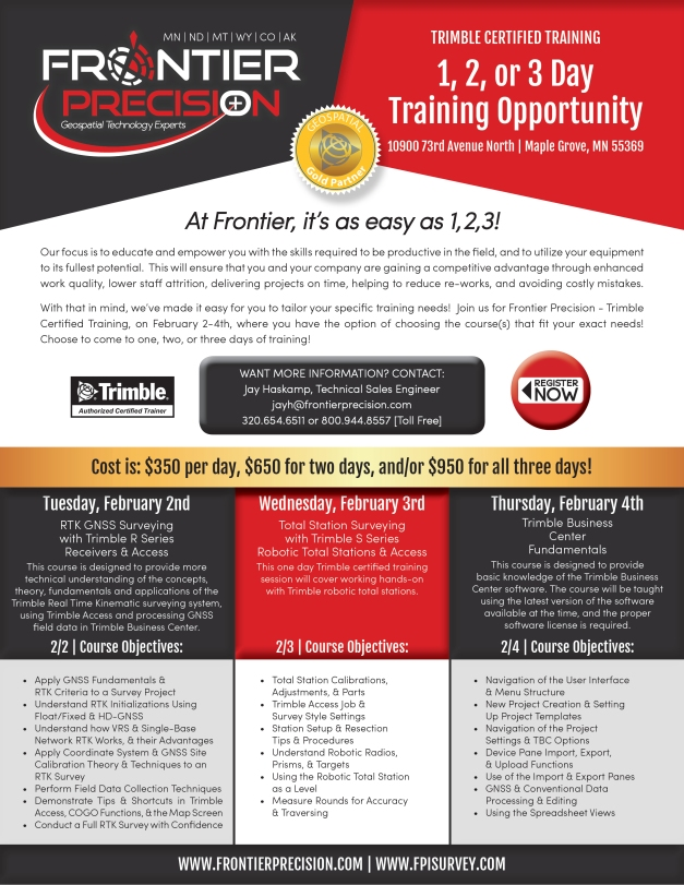 MG 3 Day Training Flyer